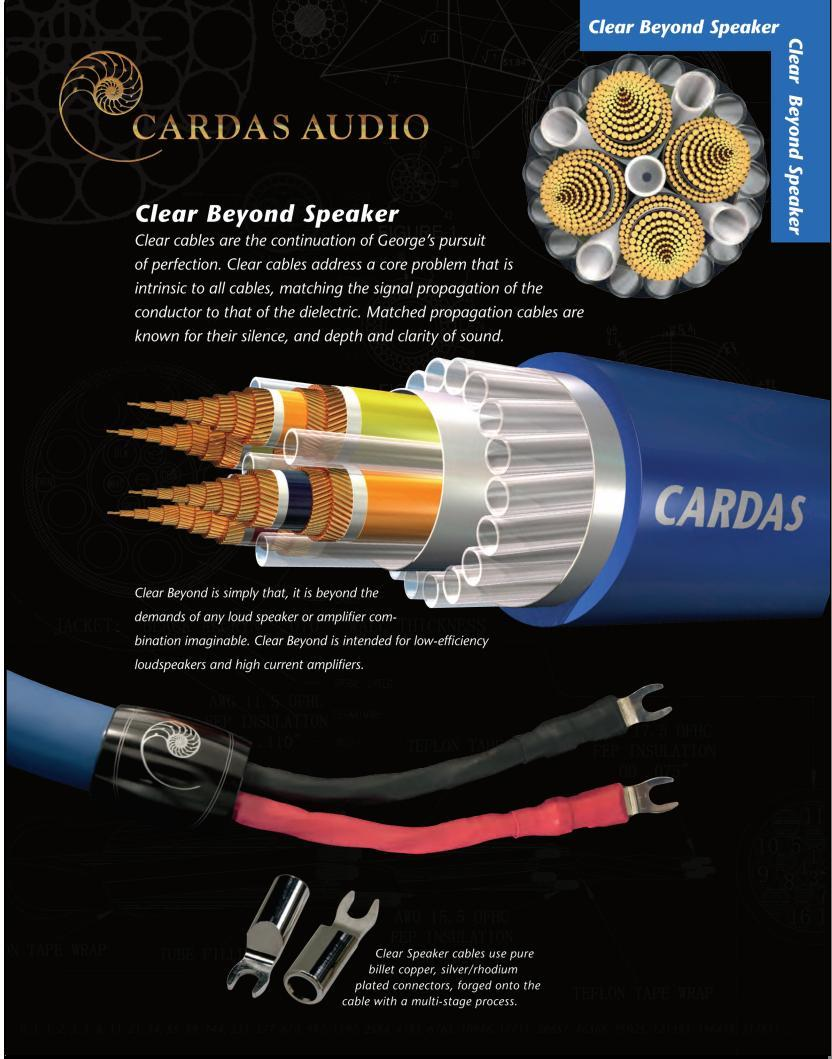 Cardas Clear Speaker Cables Signature Sound