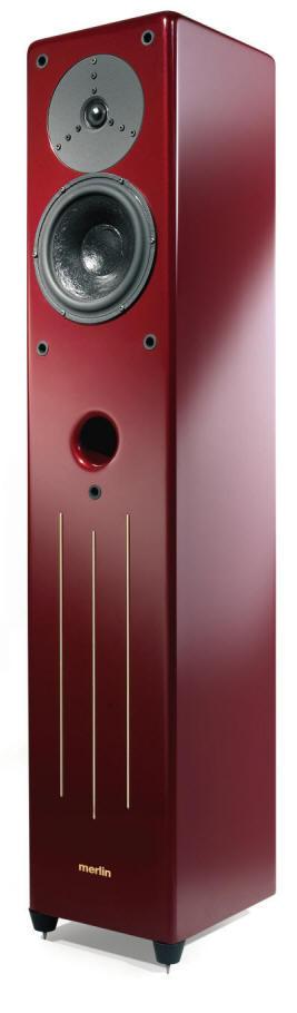 Merlin VSM Speakers in Ruby Heart Red Finish