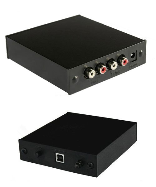 Rega Fono Mini A2D MM Phono Preamp Front & Rear Views