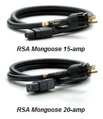 Running Springs Audio Mongoose Power Cords