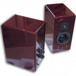 Merlin TSM Speakers in Ruby Heart Red Finish